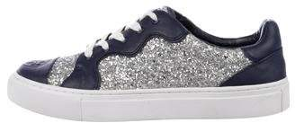 Tory Burch Glitter Low-Top Sneakers