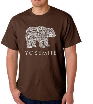 LOS ANGELES POP ART Los Angeles Pop Art Men's Word Art Yosemite Bear T-Shirt Big & Tall