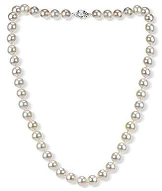 14k Gold 8-8.5mm AAAA Hand-Picked Japanese Akoya Cultured Pearl Ball Clasp Necklace