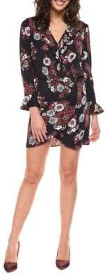 Dex Floral-Print Faux Wrap Dress