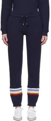 ALEXACHUNG Navy Rib Inset Lounge Pants