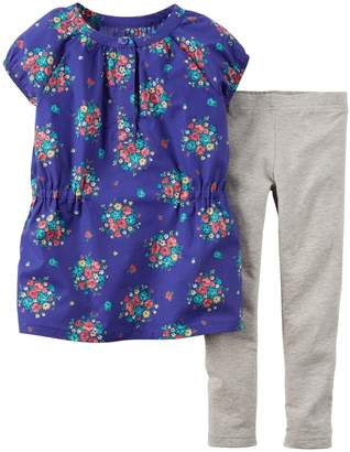Carter's Baby Girls' 2 Piece Floral Top Set (Baby) - 12M