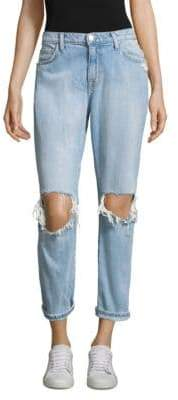 Current/Elliott The Fling Destroyed Cuff Hem Jeans