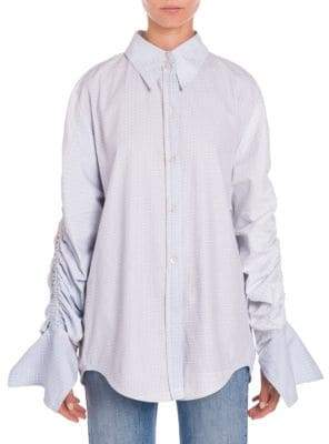 Stella McCartney Ruched Check Shirt