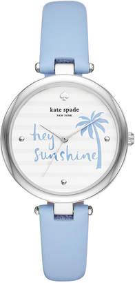 Kate Spade Women Blue Leather Strap Watch 36mm