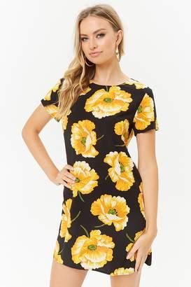 Forever 21 Floral Print Shift Dress
