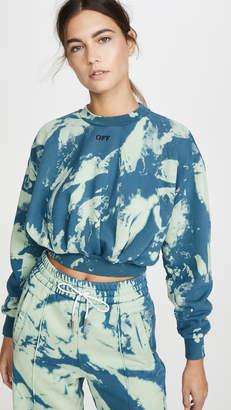 Off-White Tie Dye Extra Crop Sweatshirt
