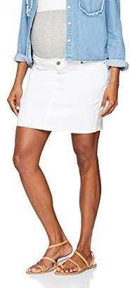 Mama Licious Mamalicious Women's Mlsigga Short Denim Skirt B Antique White, (Size: Medium)