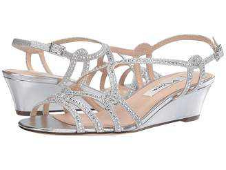 aa1ac43faf00 Nina Silver Wedge Women s Sandals - ShopStyle