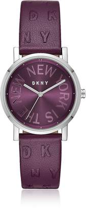 DKNY Soho Purple Leather Women's Watch