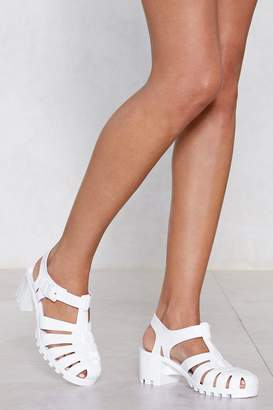 Nasty Gal Don't Be Jelly Heeled Sandal