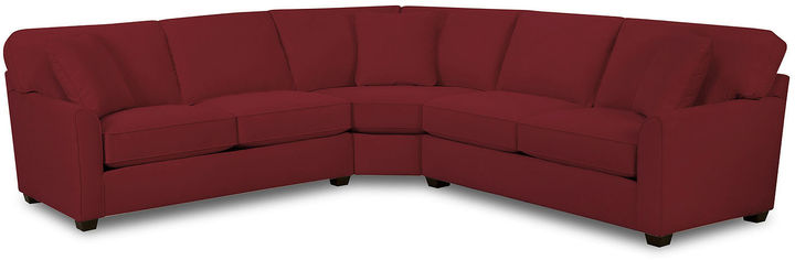FURNITURE PRIVATE BRAND Fabric Possibilities Sharkfin-Arm 3-pc. Left-Arm Loveseat Sectional with Sleeper