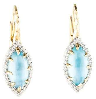 Mother of Pearl Phillips House 14K Mother of Pearl, Topaz & Diamond Drop Earrings
