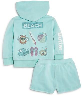 Butter Girls' Beach Hoodie & Shorts Set - Little Kid $64 thestylecure.com