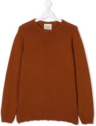 Douuod Kids TEEN distressed knit sweater