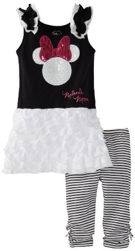 Disney Girls 2-6x Minnie Mouse 2 Piece Knit Pullover and Pant