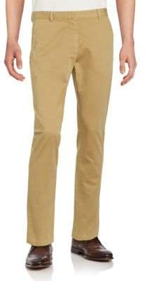 Dries Van Noten Solid Cotton Chinos