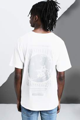 Oversized Constellations Back Print T-Shirt