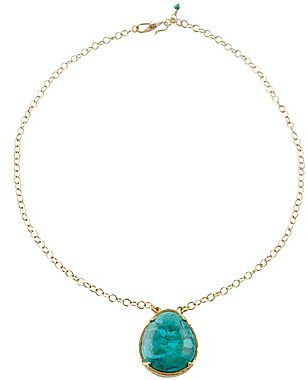 JCPenney Genuine Turquoise Pear-Shape Pendant Bronze
