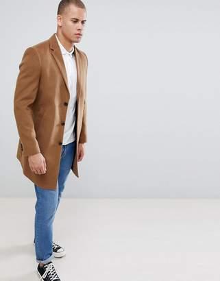 New Look Over Coat In Camel