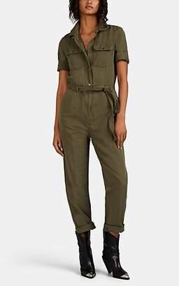 Frame Women's Cotton-Linen Belted Jumpsuit - Green