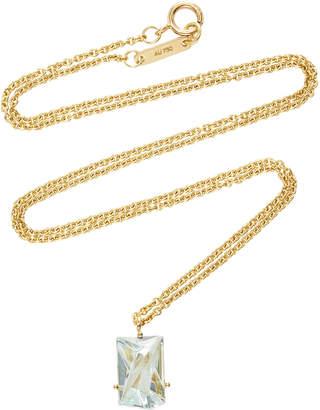 MISUI 18K Gold Aquamarine Necklace