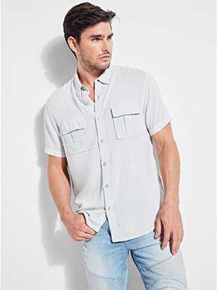 GUESS Men's Short Sleeve Vaughan Military Shirt