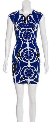 Alexander McQueen Patterned Bodycon Dress