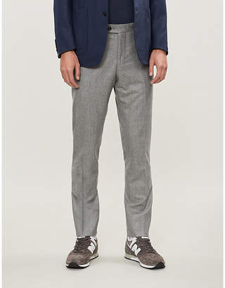 Eleventy Slim-fit tapered wool trousers