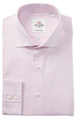 Ben Sherman Dobby Check Tailored Slim Fit Dress Shirt