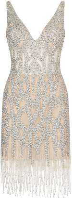 Jovani Crystal Embellished Mini Dress