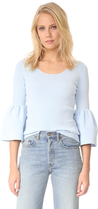 Elizabeth and James Willetta Flare Sleeve Top $295 thestylecure.com