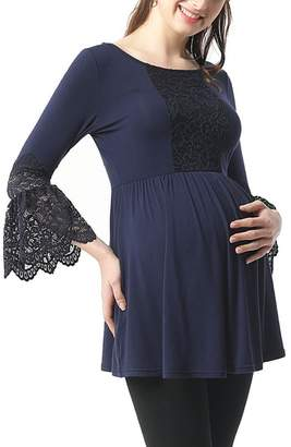 Kimi and Kai Alexis Bell Sleeve Babydoll Maternity Top