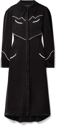 Ellery Nashville Piped Satin-crepe Midi Dress - Black