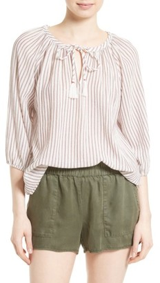 Women's Soft Joie Legaspi Stripe Peasant Top $158 thestylecure.com