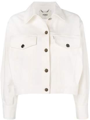 Fendi embroidered logo denim jacket