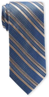 Piattelli Bruno Blue Pinstripe Pattern Silk Tie