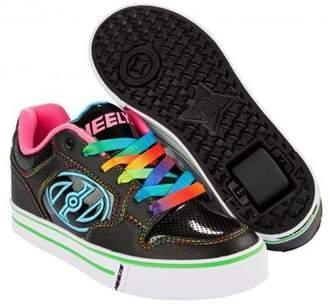 Heelys Motion Plus - Black/hot Pink/rainbow - Size - Uk 5 05 Child