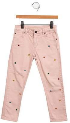 Stella McCartney Girls' Embellished Skinny Pants