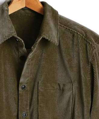 Todd Snyder Corduroy Shirt Jacket in Olive