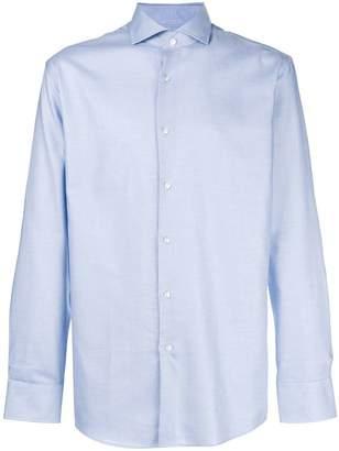 HUGO BOSS plain slim fit shirt