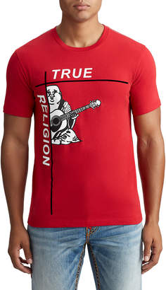 True Religion MENS CROSS BUDDHA GRAPHIC TEE