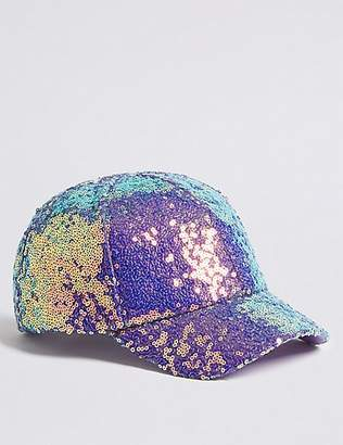 Marks and Spencer Kids' Sequin Baseball Cap (3-14 Years)