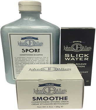 John Allan's Sport Conditioning Shampoo, Slick Water & Smoothe Conditioning Styling Cream