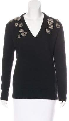 Gucci Cashmere Jewel-Embellished Sweater