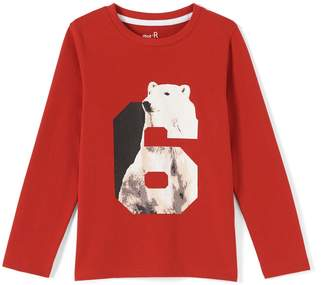 La Redoute Collections Graphic Polar Bear Print T-Shirt, 3-12 Years