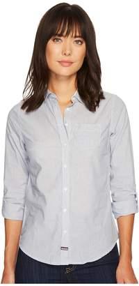 U.S. Polo Assn. Striped Shirt Women's Long Sleeve Button Up