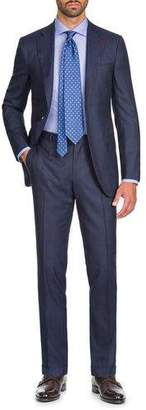 Isaia Men's Macro Plaid Two-Piece Wool Suit