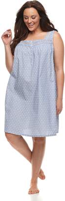 Croft & Barrow Plus Size Printed Pointelle Nightgown