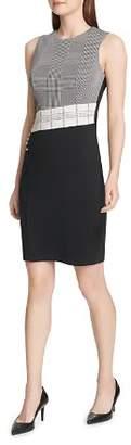 Calvin Klein Plaid Color-Block Dress
